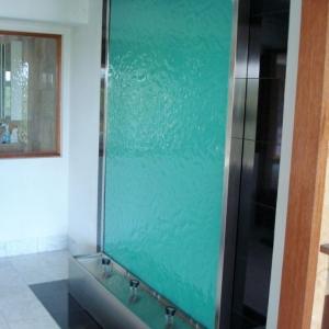 Aquamarine Framed Slumped Glass