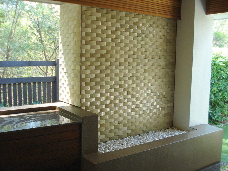 Cascading Water Feature Basket Weave Tiles