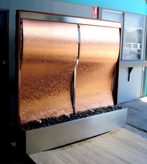Copper Wave Framed Twin