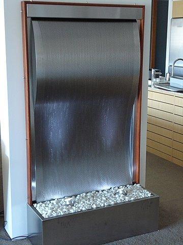 Framed Patterned Stainless Steel Wave 1