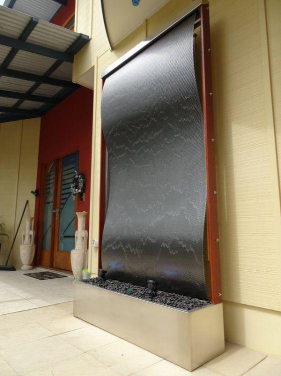 Framed Patterned Stainless Steel Wave 2
