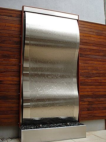 Framed Stainless Steel Wave 1