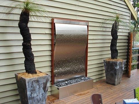 Framed Stainless Steel Wave 3