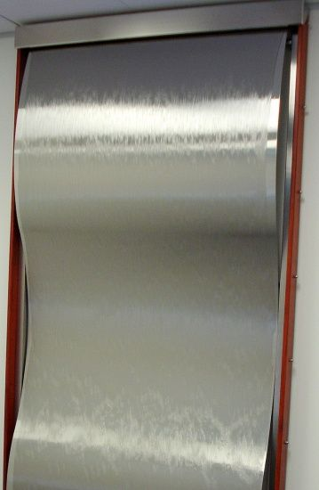 Framed Stainless Steel Wave 4