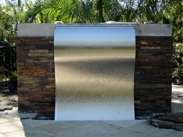 Frameless Stainless Steel Wave 3