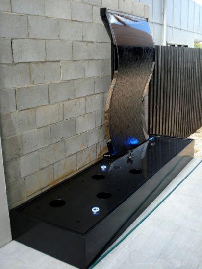 Frameless Stainless Steel Wave Black Mirror