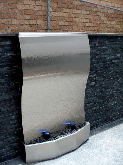Frameless Stainless Steel Wave Medium