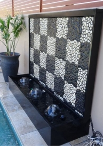 Pebble Water Feature- Checkers