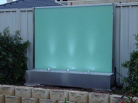Semi Frameless Glass Water Feature