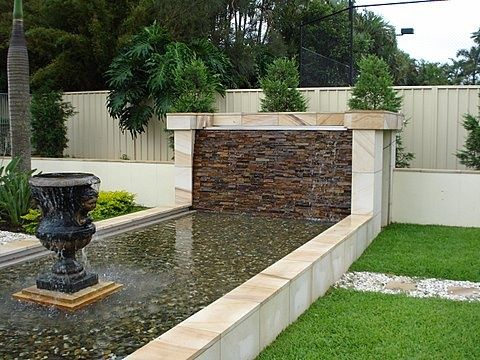 Stacked Stone Water Feature No. 9