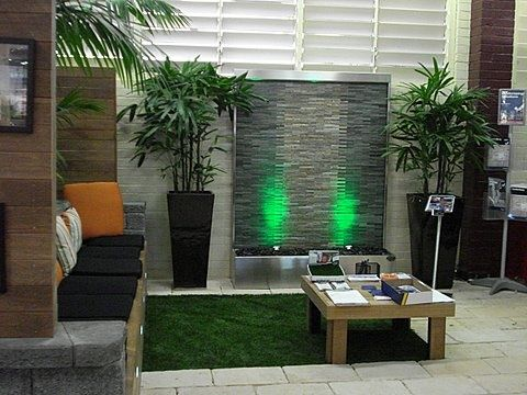 Trade Show Stacked Stone Water Feature