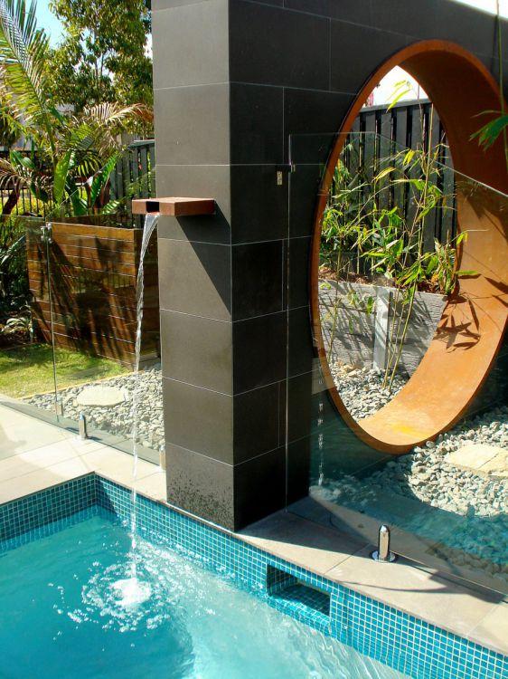 Corten Steel Water Spout