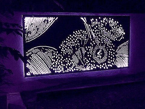 Decorative Panel Waratah