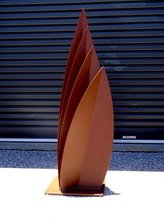 Leaf Sculpture Corten