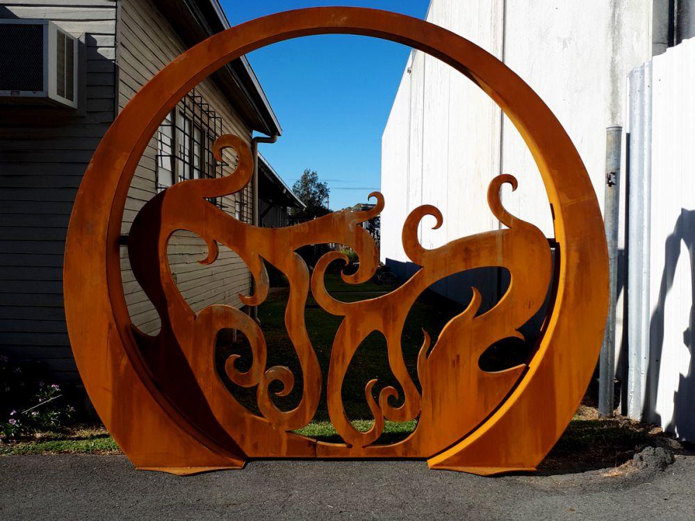 Mojo - Gate Corten Steel