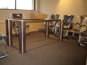 Chunky Stainless Steel Table