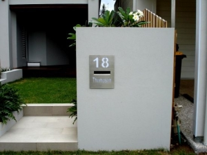 Letter Box Fascia Panels Stainless Steel