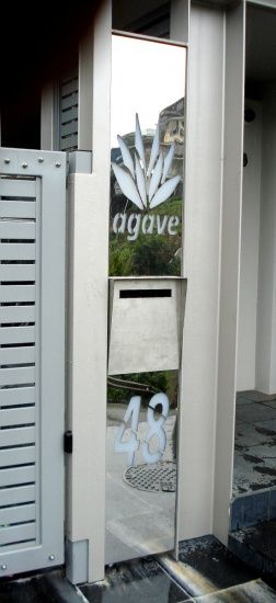 Letter Box Signage Mirror Stainless Steel
