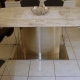 Stainless Steel and Marble DiningTable