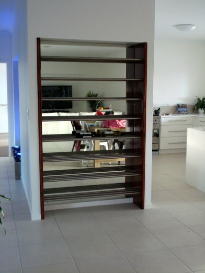 Stainless Steel and Recycled Timber Wine Rack