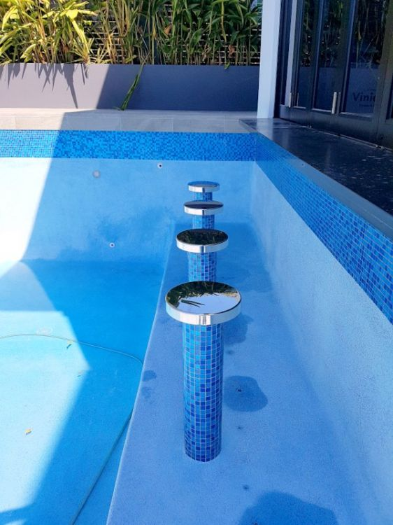 Stainless Steel Pool Seats